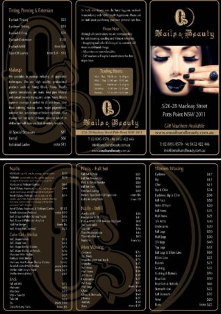 Price List - OS Nails and Beauty